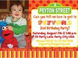 Sesame Street Birthday Party Invitations Personalized Elmo & Sesame Street Birthday Invitation Custom by