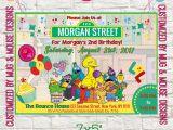 Sesame Street Birthday Party Invitations Personalized Sesame Street Birthday Invitation Printable Personalized