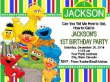 Sesame Street Birthday Party Invitations Personalized Sesame Street Birthday Party Invitations Custom