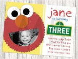 Sesame Street Birthday Party Invitations Personalized Sesame Street Elmo Birthday Invitation by Mommybrain2designs