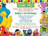 Sesame Street Birthday Party Invitations Personalized Sesame Street Invitation Jake Pinterest