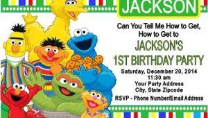 Sesame Street Customized Birthday Invitations Sesame Street Birthday Party Invitations Custom