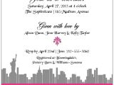 Sex In the City Bridal Shower Invitations Enchanted New York City Bridal Shower Invitations