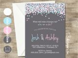 Sex Reveal Party Invitations Gender Reveal Invitation Confetti Gender Reveal Party