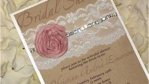 Shabby Chic Wedding Shower Invitations Bridal Shower Invitation Shabby Chic