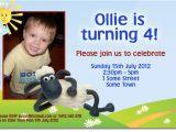 Shaun the Sheep Birthday Party Invitations Cu851 Shaun the Sheep Invitation Boys themed Birthday