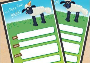 Shaun the Sheep Birthday Party Invitations Free Printable Shaun the Sheep Birthday Invitation