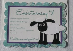 Shaun the Sheep Birthday Party Invitations Items Similar to Shaun the Sheep 10 Personalized Sheep