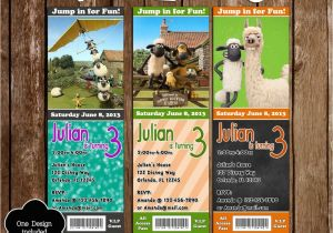 Shaun the Sheep Birthday Party Invitations Novel Concept Designs Shaun the Sheep Movie Birthday