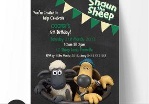Shaun the Sheep Birthday Party Invitations Shaun the Sheep Birthday Invitation Edit and Print by