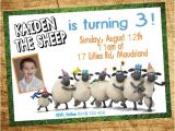 Shaun the Sheep Birthday Party Invitations Shaun the Sheep Party Invitation Google Search