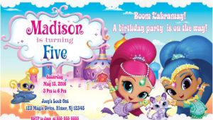Shimmer and Shine Birthday Invitation Template Shimmer and Shine Birthday Invitation Printable Shimmer