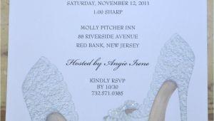 Shoe themed Bridal Shower Invitations Bridal Shower Invitations Shoe theme Bridal Shower Bridal
