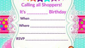 Shopkins Birthday Invitation Template Free Updated Free Printable Shopkins Birthday Invitation
