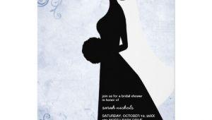Silhouette Bridal Shower Invitations Bridal Shower Invitations Blue