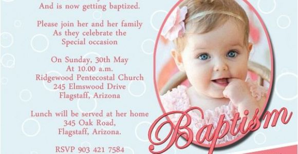 Simple Message for Baptism Invitation Baptism Invitation Wording Samples Wordings and Messages