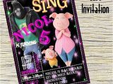Sing Party Invitations Sing Invitation Sing Personalizedsing Birthday