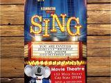 Sing Party Invitations Sing Movie Invitation Sing Invitation Sing Movie Party Sing