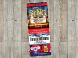 Sing Party Invitations Sing Movie themed Birthday Party Invitation Customizable