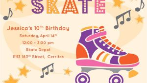 Skating Party Invitations Free Printables River & Bridge Retro Roller Skate Party Invitation