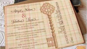 Skeleton Key Wedding Invitations Vintage Wedding Invitation Skeleton Key by Sunshineandravioli