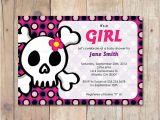 Skull Baby Shower Invitations Skull Baby Shower Skull and Crossbones by Serenariveradesigns