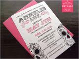 Skull Baby Shower Invitations Sugar Skull Baby Shower Invitations Metallic by Citlali