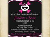 Skull Baby Shower Invitations Zebra Skull Baby Shower Invitation Printable by Fourleafprints