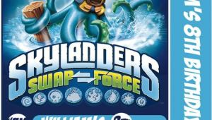 Skylander Birthday Invitations Skylander Swap force Card Birthday Party Invitation