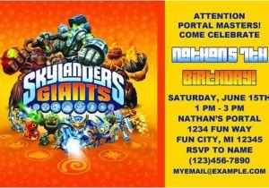 Skylanders Birthday Invitations Printable Printable Skylanders Birthday Invitation