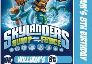 Skylanders Birthday Invitations Printable Skylander Swap force Card Birthday Party Invitation