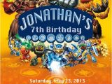 Skylanders Birthday Invitations Printable Skylanders Birthday Party Invitation by