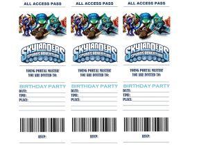 Skylanders Birthday Invitations Printable Skylanders Birthday Party Invitations