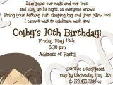 Slumber Party Invitation Poem Cute Sleepover Poem Ava S 10th Birthday