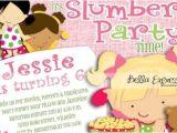 Slumber Party Invitation Poem Sleepover Birthday Party Invitation Slumber Party Pink