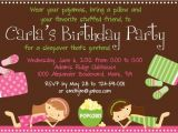 Slumber Party Invitation Wording Ideas Sleepover Birthday Invitations Lijicinu 8eccf6f9eba6