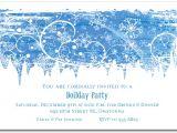 Snowflake Birthday Party Invitations Swirling Snowflakes Holiday Invitation Christmas Invitations