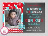 Snowflake Birthday Party Invitations Winter Wonderland Invitation Snowflake Invitation Birthday