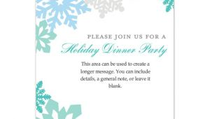 Snowflake Party Invitation Template Holiday Colorful Snowflakes Invitations Cards On Pingg Com