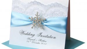 Snowflake themed Wedding Invitations Winter Wedding Invitations Snowflake Crystal Made