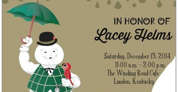 Snowman Baby Shower Invitations Sam the Snowman Baby Shower Invitations