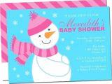 Snowman Baby Shower Invitations Snowman Baby Shower Invitations