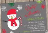 Snowman Baby Shower Invitations Snowman Christmas Baby Shower Invitation Baby Shower
