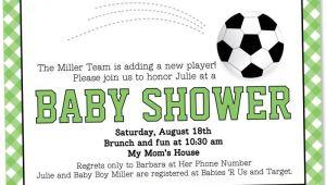 Soccer Baby Shower Invitations soccer Baby Shower Invitation