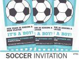 Soccer Baby Shower Invitations soccer Baby Shower Invitation soccer Invitation by