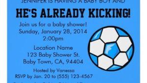 Soccer themed Baby Shower Invitations soccer Baby Shower Invitation Customizable Card