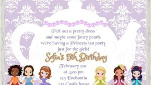 Sofia the First Tea Party Invitations 50 Off sofia the First Tea Party Invitation