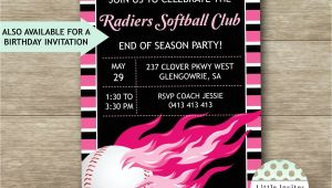 Softball Birthday Party Invitations softball Birthday Invitations softball Party