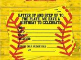 Softball Invitations Birthday Girls softball Party Diy Invitations by