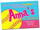 Softball Invitations Birthday Printable softball Birthday Party Invitation Digital File